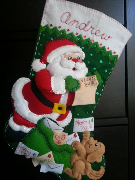 Reserved for Jaime - Letters to Santa Stocking