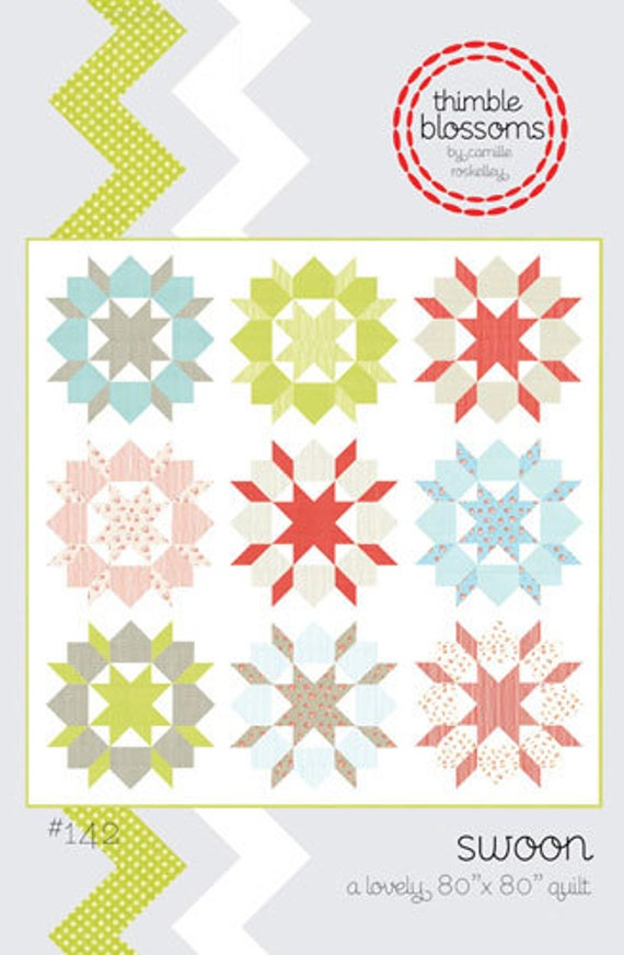 Swoon Quilt Pattern by Thimble Blossoms