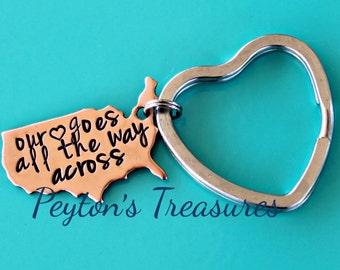 ... States Long Distance Relationship- Boyfriend Gift- Girlfriend Gift