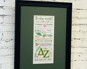 Delta Zeta Creed Illustration UnFramed 11x17 Print, delta zeta gift, delta zeta big little, delta zeta creed print