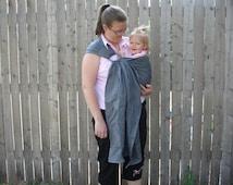 Gray 100% linen ring sling for infants and toddlers custom order