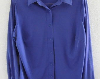 Vintage 1960s Sears Womens Purple Blouse Size 40 Large