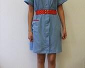Colourful house dress - small/medium/large