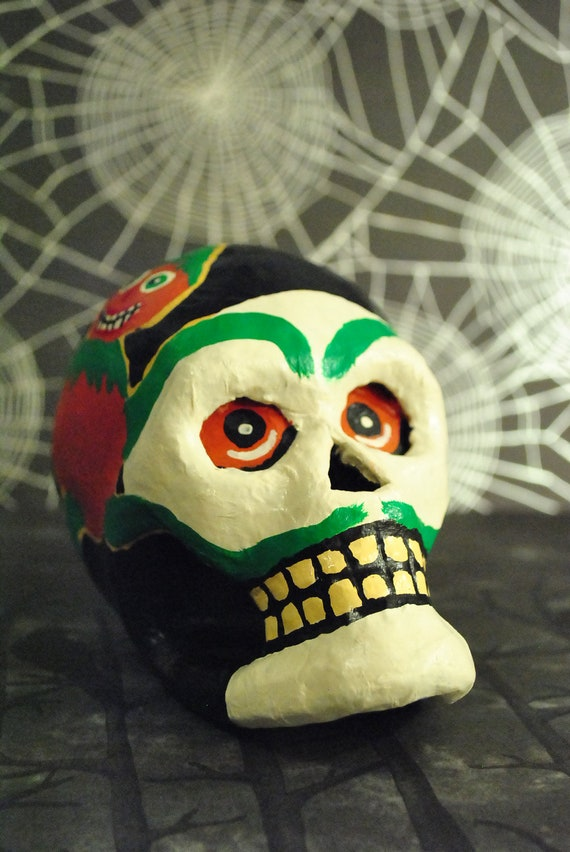 Vintage Inspired Halloween Skull