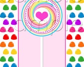 INSTANT DOWNLOAD - Sweet Shoppe Party- Printable Lollipop Party Game