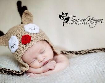 PATTERN Reindeer Hat - Crochet