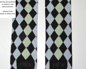 DARK ARGYLE baby leg warmers. Great for babies, toddlers, and young kids