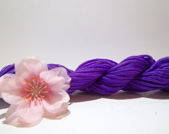 1 Skein of 2mm Purple Nylon Chinese Knotting Cord for Macrame