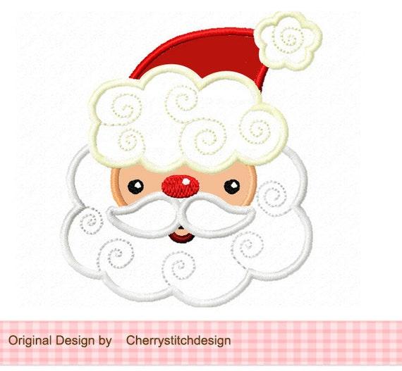 Santa claus digital applique christmas