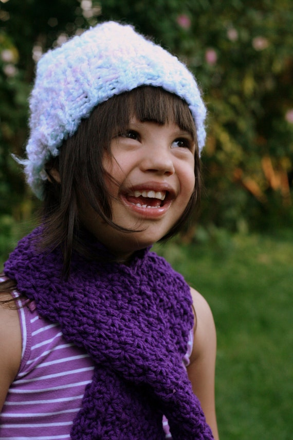 Fuzzy Pastel Knitted Kids Hat