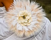 Wedding Feather Bouquet - Fabric Bouquet, Large Bouquet, Bridal Bouquet, Bridal showers, Home Decor, Nature Inspired