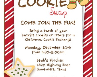 Cookie swap invite | Etsy