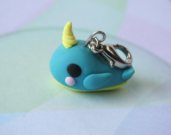 Little Whale Charm Polymer Clay