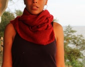Cyber Monday Sale MAKE a FULL CIRCLE Scarf in Scarlet