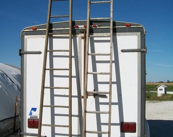 """Antique Wood Ladder with 11 Rungs - 132"""" long - Choose a Vintage Surface or Pick a Color"""