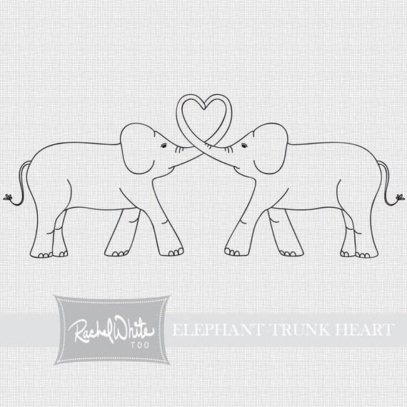 Elephant trunk heart drawing for Elephant heart trunk