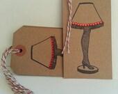 Christmas Story Leg Lamp Gift Tags - Set of 6
