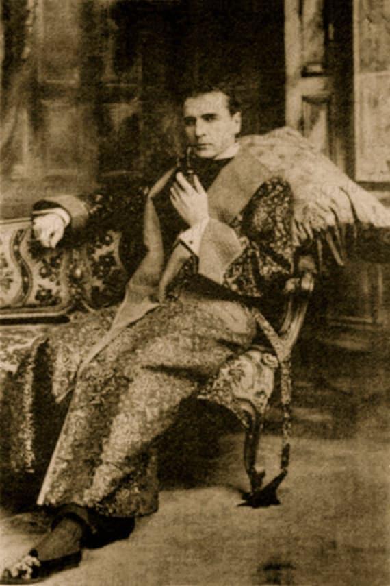 Sherlock Holmes William Gillette Giclee Print 1899