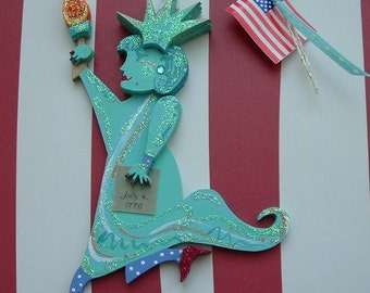 Statue of Liberty Fourth of July Patriotic Ornament