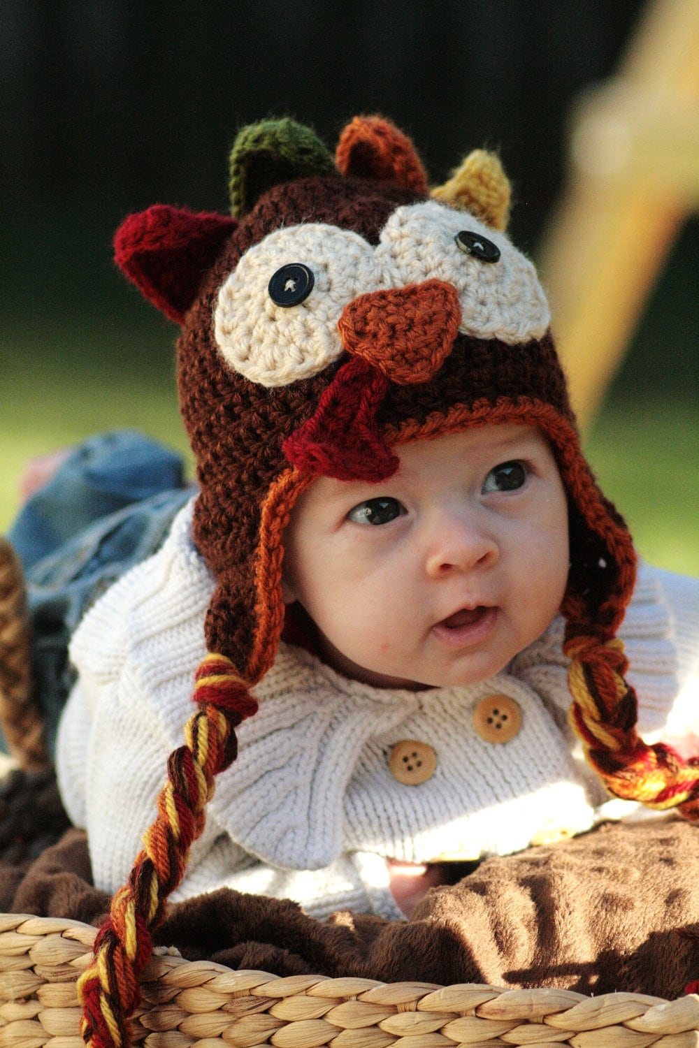 Crochet Turkey Cat Hat Pattern : Crocheted Turkey Hat Pattern