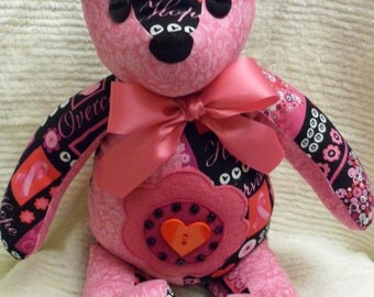 Handcrafted Breast Cancer Awareness Bear