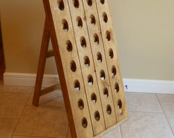 French Riddling Rack, Wine Rack, Riddling Rack, 28 Bottle Riddling Rack, A-frame French riddling rack