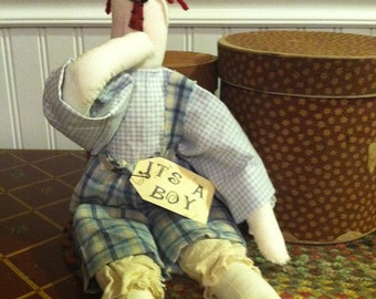 "Primitive Raggedy Andy Doll ""It's A Boy"""
