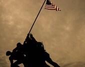 Photo: Dusk at Iwo Jima Memorial