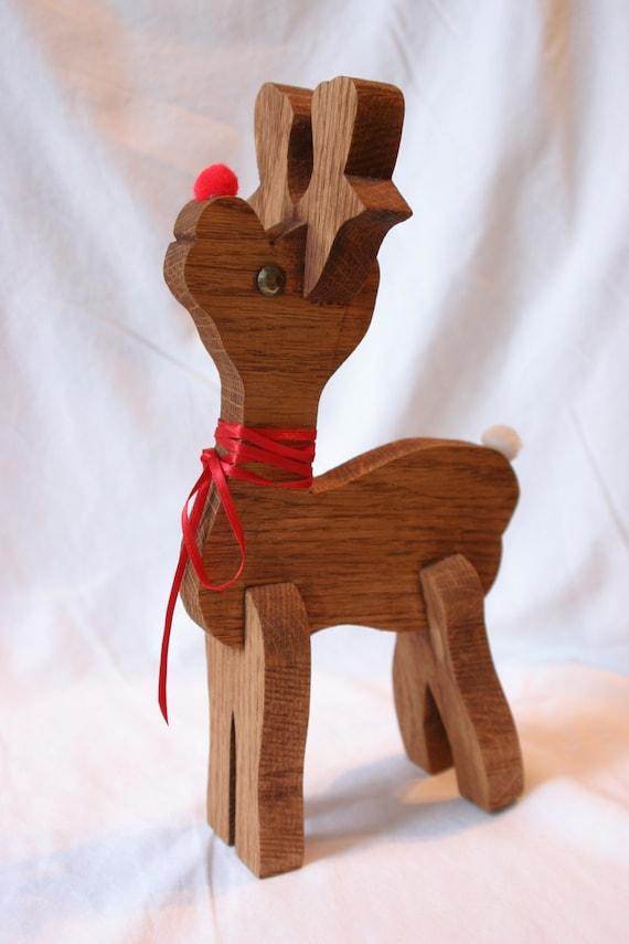Vintage Reindeer Wood Rudolph Christmas Decoration Vintage
