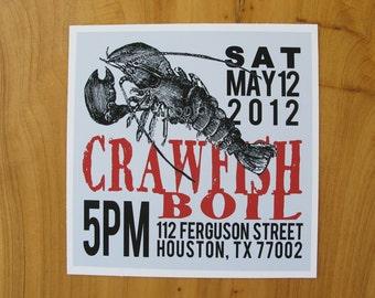 Crawfish Boil Invitation (DIY Printable)