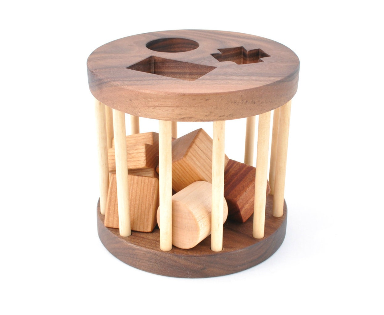 Wooden Shape Sorter Toy Montessori Inspired Educational Toy