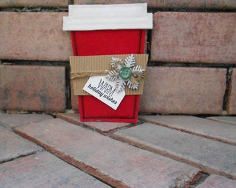 Coffee Cup Gift Card Holder and Ornament