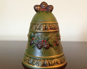 Vintage Christmas Bell by Napcowear X-8655