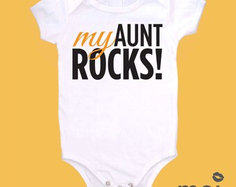Organic Cotton: I Love My Aunt Bodysuit   Creeper   Baby Gift   Present   Cute