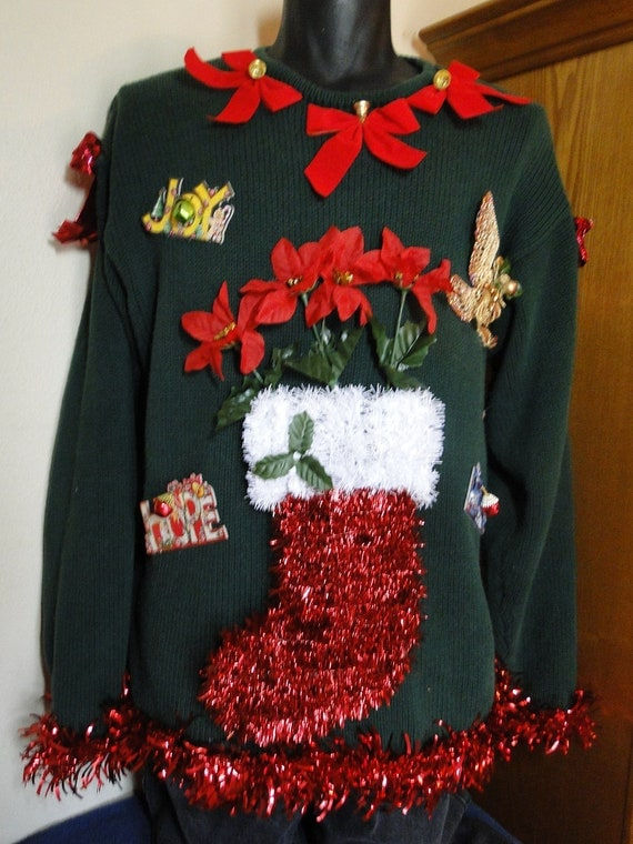 Making ugly christmas sweaters