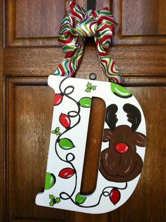 Wooden Door Hangers Christmas