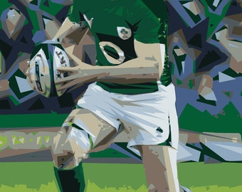 Irish Rugby Poster - Irish Rugby Hero - A2 Giclee Print - Limited Edition - Irish Art Print