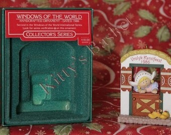 Hallmark Ornament 1986 Vrolyk Kerstfeest with box