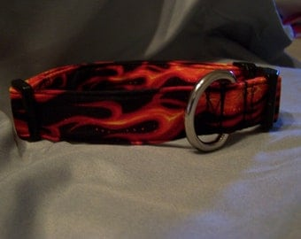 Red Flame Dog Collar Sammy's Chemo Collar