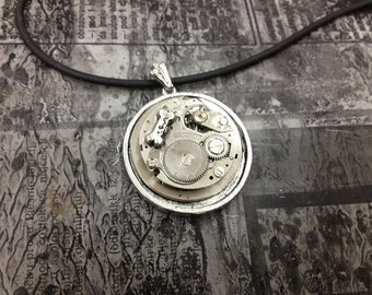 FIND that BONE Steampunk jewelry -necklace-