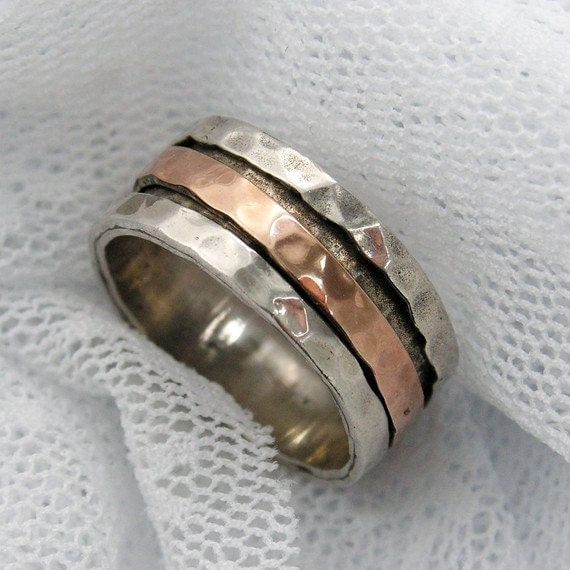 sterling silver gold spinner ring worry rings meditation