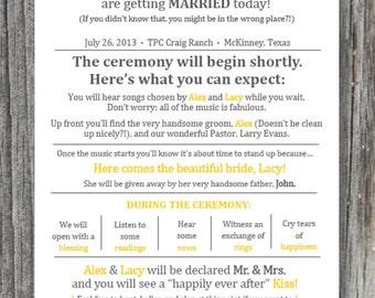 Printed - Rustic Wedding Ceremony Programs