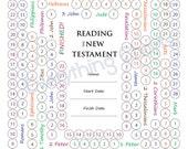 New Testament Reading Chart - PDF File/Printable