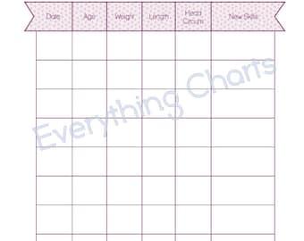 Baby Growth Chart - PDF File/Printable