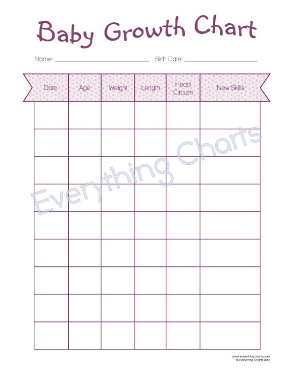 baby growth chart pdf file  printable