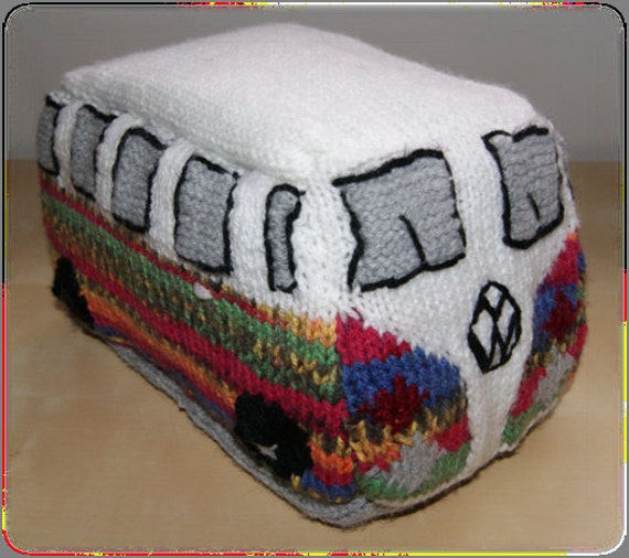 Vw Campervan Knitting Pattern : Volkswagen Camper PDF Knitting Pattern by NoisyNeedlesKnitting