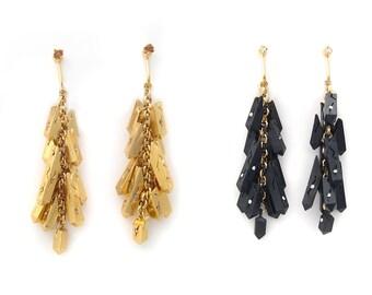 """Earrings """"Crystal metal"""""""