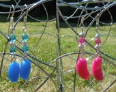 Jellybean Earrings, Realistic Candy Colours, Kitsch Sweetie Jewellery, Polymer Clay Jelly Beans Made To Order