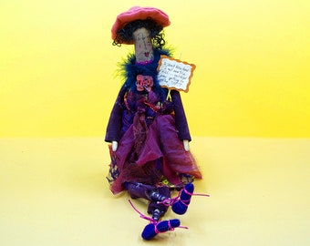 I Don't Know How I Got Over the Hill...Without Ever Getting to the TOP - Whimsical Doll