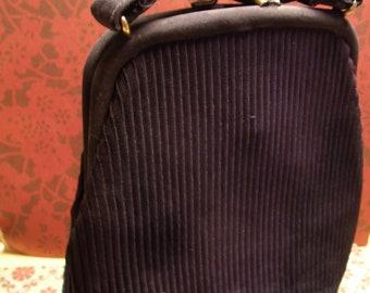 Purse Handbag Navy Blue Pleats
